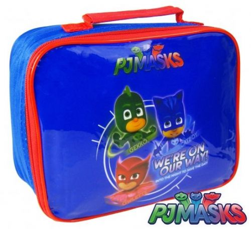 "Official PJ Masks ""Gekko, Catboy & Owlette"" Character Insulated Lunch Bag ""Perfect For School"""
